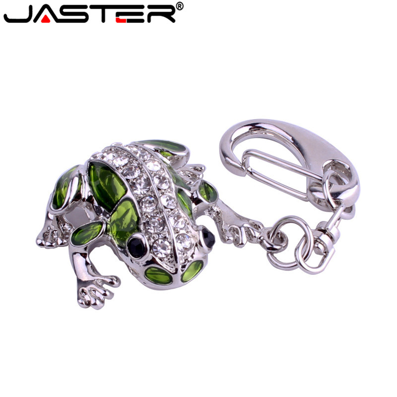 JASTER Crystal Frog Model USB Flash Drive 4GB 8GB 16GB 32GB Precious Stone Pen Drive Special Gift