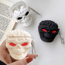 For Apple AirPods 1 3D Cartoon Cool Skull Earpods Case for Airpods 2 Wireless Ea