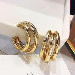 2020 Fashion Vintage Geometric Alloy Hoop Earrings Statement Women's Multilayer Circle Metal Drop Earrings Jewelry Accessories