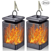 Halloween Flame Lamps Solar Energy Light Energy Saving Christmas Gifts Party Lantern Home Environmental Protection Decor Props