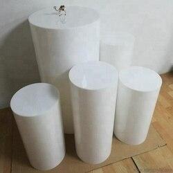 Ronde Partij Decoratie Vloer Witte Cake Tafel Voetstuk Stand Cilinder Plint DIY Bruiloft Decoraties