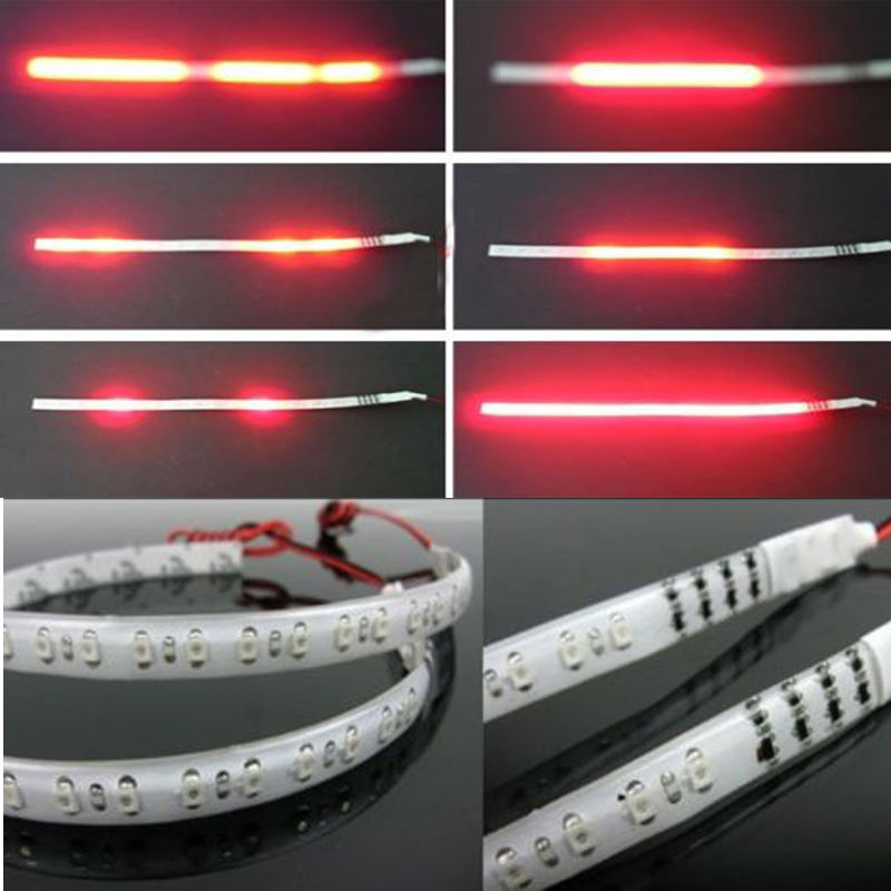 2 Pcs Red Led Knight Rider Flash Strobe Scanner Neon Strip Light DIY 32 LED 2019 New