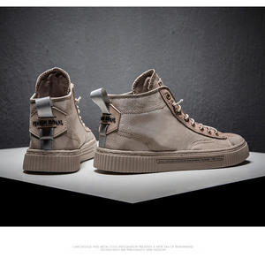 Image 3 - TaoBo High top Casual Shoes for Men Khaki Outdoor Sport Sneaker for Male Size 39 44 Light Weight Anti Slippery Shoes