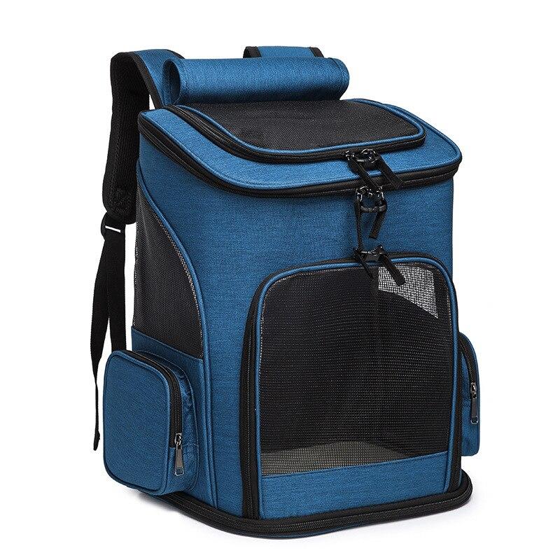 Large Pet Bag Foldable Dog Backpack High-quality Nylon Pet Cat Dog Carrier Bag Adjustable Shoulder Strap Pet Travel Backpack