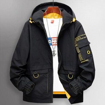 Plus size 8XL 7XL 6XL 5XL XXXXL New 2020 Pocket Patchwork 2019 Spring Autumn Jacket Men Streetwear Bomber Clothes
