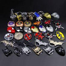 2019 Avengers alliance Super hero Keychain Iron Man Captain America Star Wars Spider-man Arrow Superman Shield Batman Key Ring