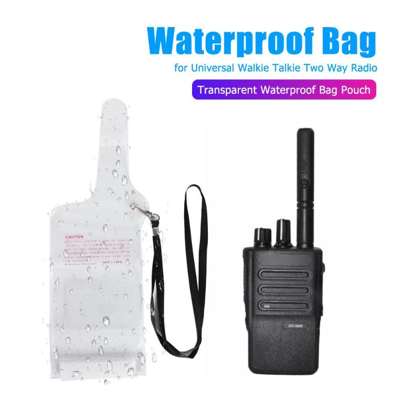 Transparent Waterproof Bag Dust-proof Scratch-proof Pouch For Universal Walkie Talkie Two Way Radio