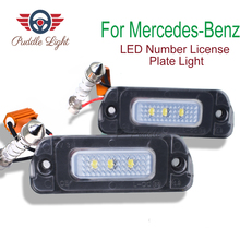 2Pcs  3SMD Rear LED Number License Plate Light Kit For Mercedes Benz AMG R X ML GL Class W164 X164 W251 R300 R320 R550 R500 liislee original hole camera wireless receiver mirror screen parking system for mercedes benz r mb w251 r300 r350 r500 r63