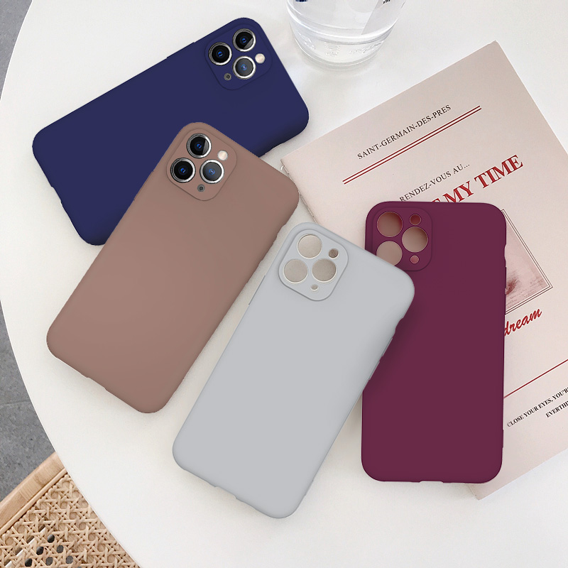 Cute Candy Color Matte Frosted Phone Case για iPhone 11 Pro Max 7 - Ανταλλακτικά και αξεσουάρ κινητών τηλεφώνων - Φωτογραφία 5