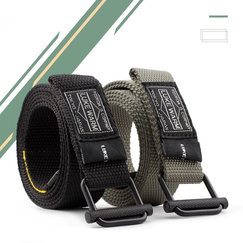 Military Tactical Belt Men Canvas Belts For Jeans Male Casual Metal Pin Detachable Buckle Straps Belt