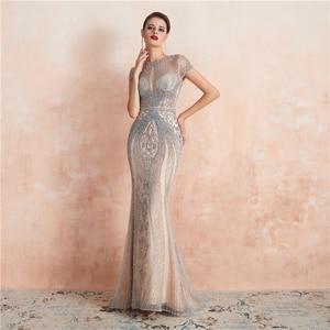 Image 4 - Robe De soirée luxueuse, Sexy, luxueuse, Robe De soirée, perles, cristaux, Photos réelles, WT5553, nouvel arrivage