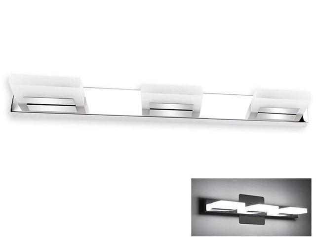 Moderne Led Vanity Licht Met 3 Lichten Roestvrij Staal En Acryl, Badkamer Spiegel Verlichting Armatuur Voor Wasruimte Slaapkamer