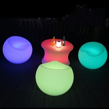 Stool Furniture Apple-Chair Outdoor Disco LED Bench Plastic No Ball Rechargeable-Bar