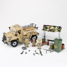 Weltkrieg 2 Water Pot Truck Building Blocks Canada CMP C15A Military weapons figure Accessories building blocks