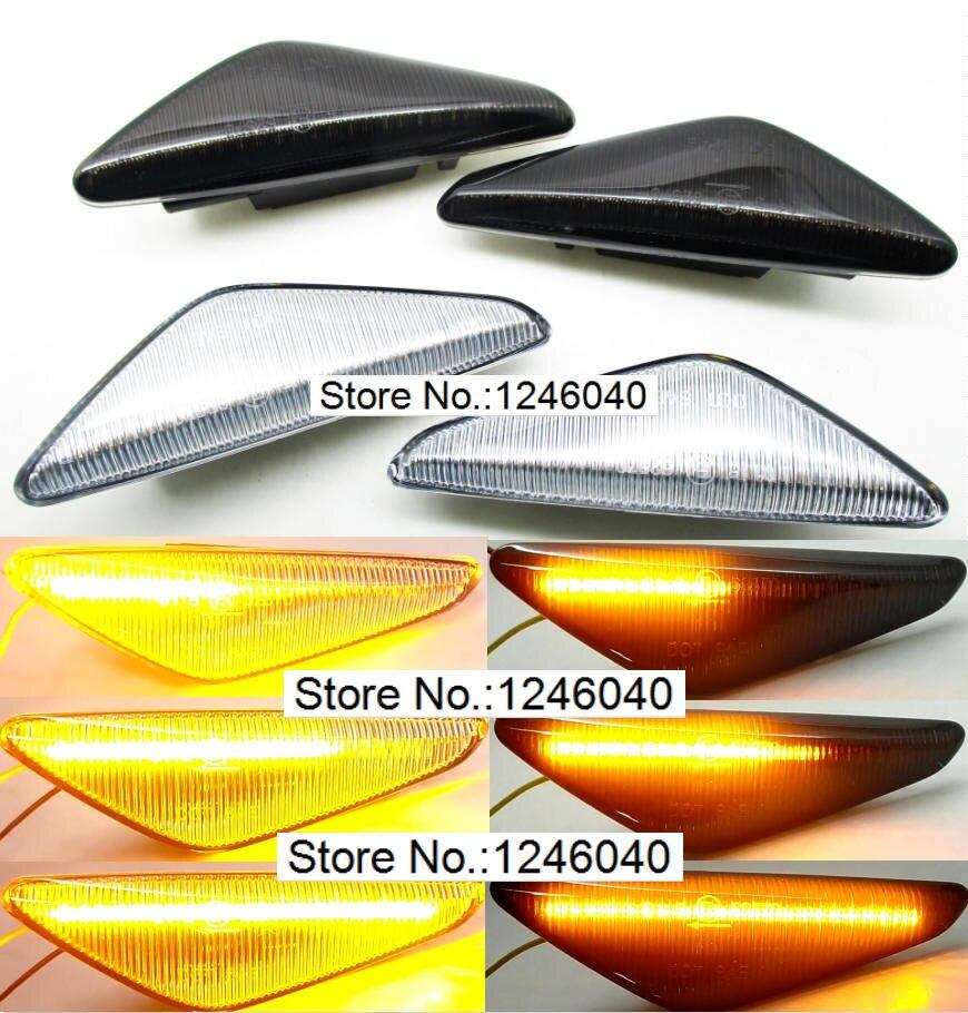 2 قطعة LED الديناميكي الجانب ماركر بدوره مصباح إشارة مصباح مكرر ضوء تدفق فلاش لسيارات BMW X3 X5 X6 E70 E71 2008 2014 E72 F25مصباح إشارة   -