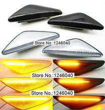 2PCS LED 동적 사이드 마커 턴 신호 리피터 라이트 표시기 BMW X3 X5 X6 E70 E71 2008 2014 E72 F25 용 플래시 장착