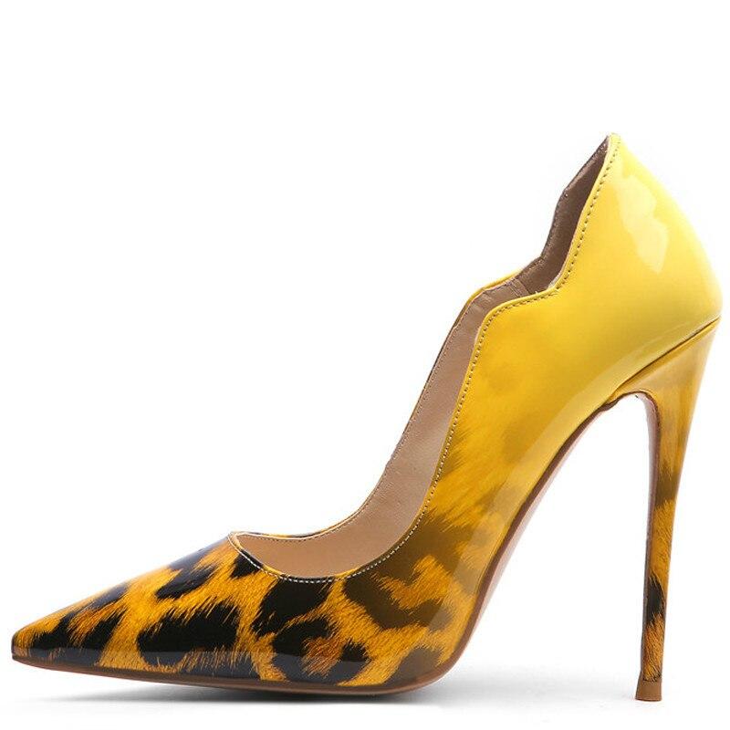 YECHNE Sexy Luipaard Print women High heels Shoes Woman Wedding shoes Be Teen Strip Bride Valentine Hooks Shoes Green