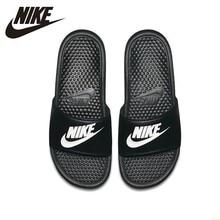 Nike BENASSI JDI Women Slipper  Unisex Comfortab Black Sports Slippers Anti-slip Sandals New Arrival#818736-011