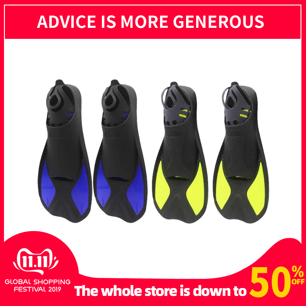 Outdoor Water Sports Adjustable Swimming Fins Webbed Diving Flippers Snorkeling Training Pool Equipment