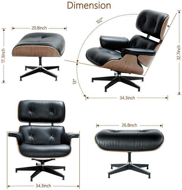 Furgle Premium Classic Lounge Chair w/ Ottoman  5