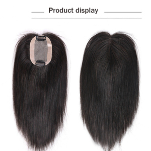 Image 5 - Allaosify High Temperature Fiber Synthetic Clips In Hair Extensions for Women Hairpieces Black Brown Hair Topper Clip In Closure