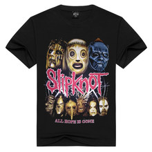 Hombres/mujeres Slipknot camiseta heavy metal camisetas verano Tops camisetas all hope is gone camiseta hombres Rock band camisetas de talla grande(China)