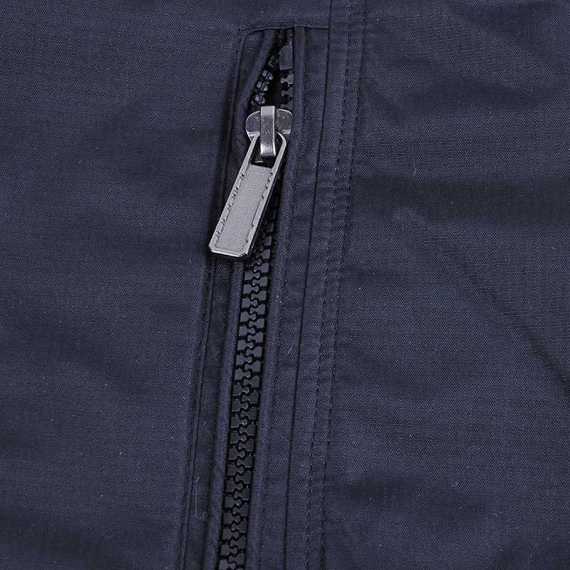 男性の綿スタンド襟軽量ジップジャケット秋カジュアルウインドブレーカージャケット貨物スタンド襟の軍事爆撃機ジャケットコート