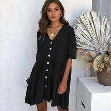 Новинка 2019 женское платье на весну и лето короткое с v образным