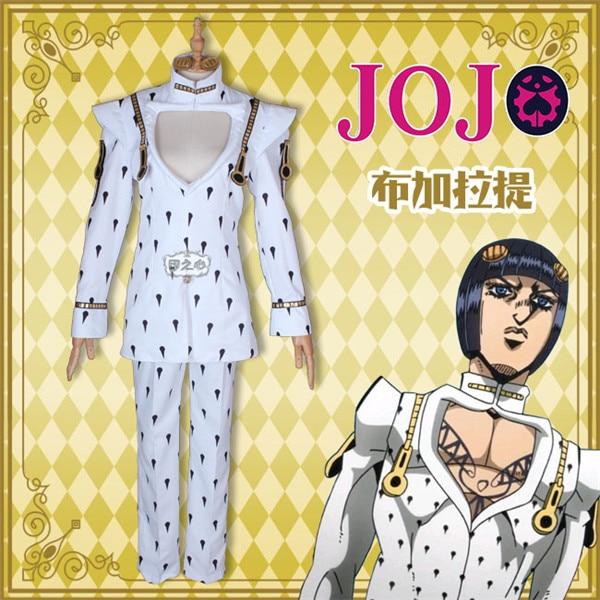 JOJO Higashikata Josuke  Goldenwind Bruno Bucciarati Cosplay Costume Halloween party suit Unisex
