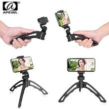 Apexel Mini Di Động Chân Máy Monopod Có Remote Bluetooth Ontrol Selfie Đầy Đèn LED Cho Iphone X 7 8 Di Động Samsung điện Thoại