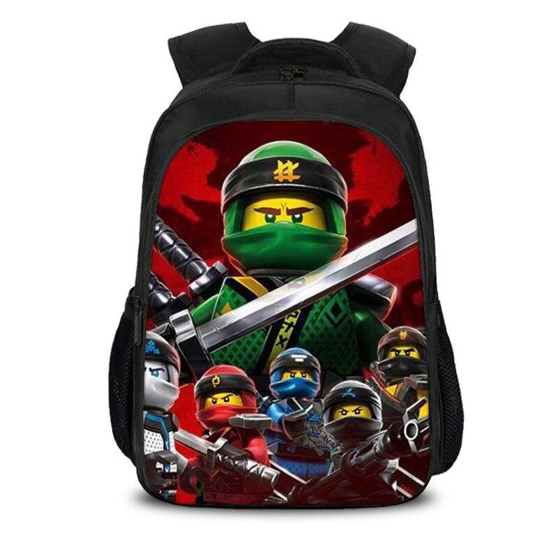 Kids Cartoon Ninjago Backpack New Children Teenagers School Rucksack For Girls Boys School Bags Mochila C23