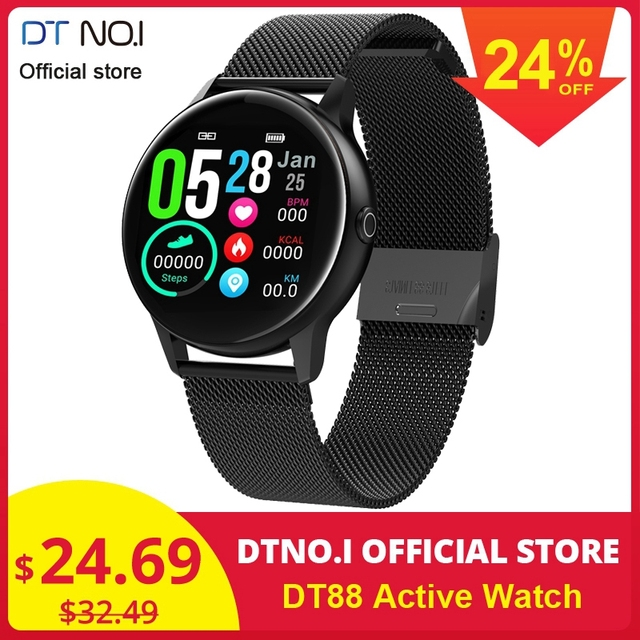 DTNO.I DT NO.1 DT88 Smart Watch Round Touch Screen Smartwatch Heart Rate Intelligent Fitness Tracker Sports Fashion Watch VS Q8