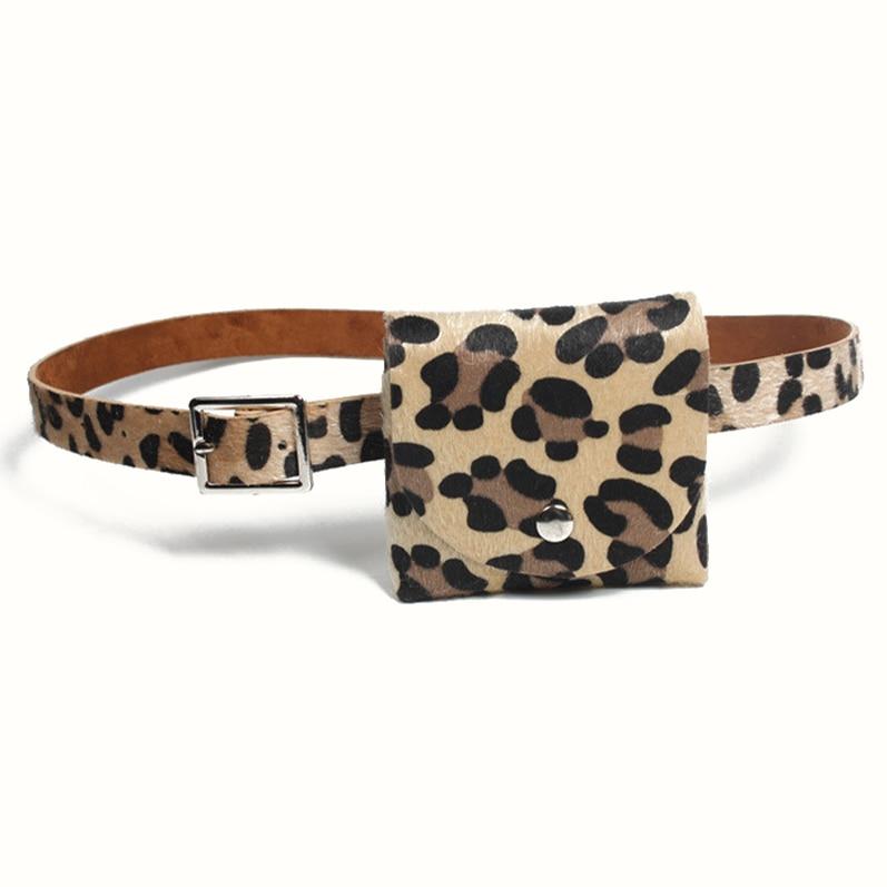 15PCS / LOT New Ladies Belt Leopard Sexy Waist Belt Bag Mini Coin Wallet Key Pouch Women Sholder Bag Chest Bag