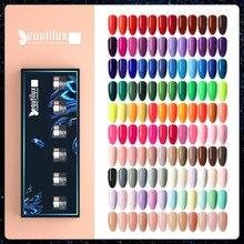Beautilux żelowy lakier do paznokci zestaw 6 sztuk/zestaw x10ml Soak Off UV LED lakier do paznokci zestaw Semi Permanent Nail Art żele lakier pudełko DIY