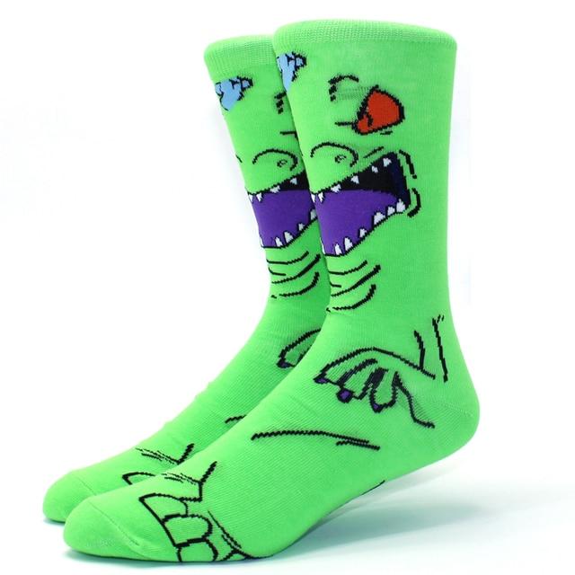 Looney Ttunes & Marvel Anime Cartoon Socks 4
