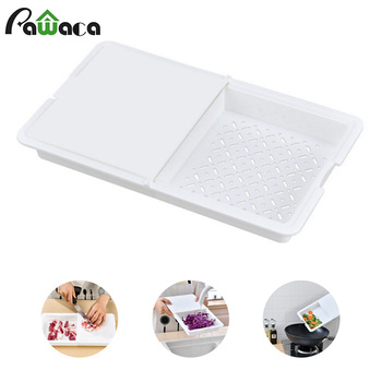 3-in-1 Collapsible Cutting Board Epicurean Cutting Board Plastic Non-slip Vegetable Meat Tool Cutting Boards Kitchen Accessories image