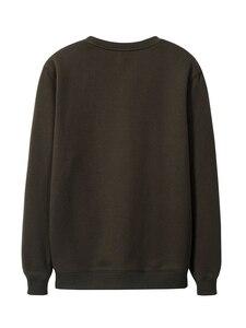 Image 4 - Pioneer Camp 100% Baumwolle Dicken Pullover Männer Winter Feder Print Schwarz Grau Outwear Mens Hohe Qualität Kleidung AWY906348
