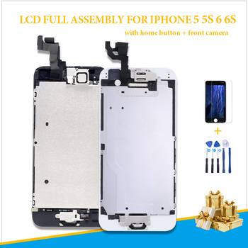 complete Full Assembly Screen For iPhone 6 6G A1549 A1586 A1589 LCD Replacement Display Touch Digitizer home button + camera image