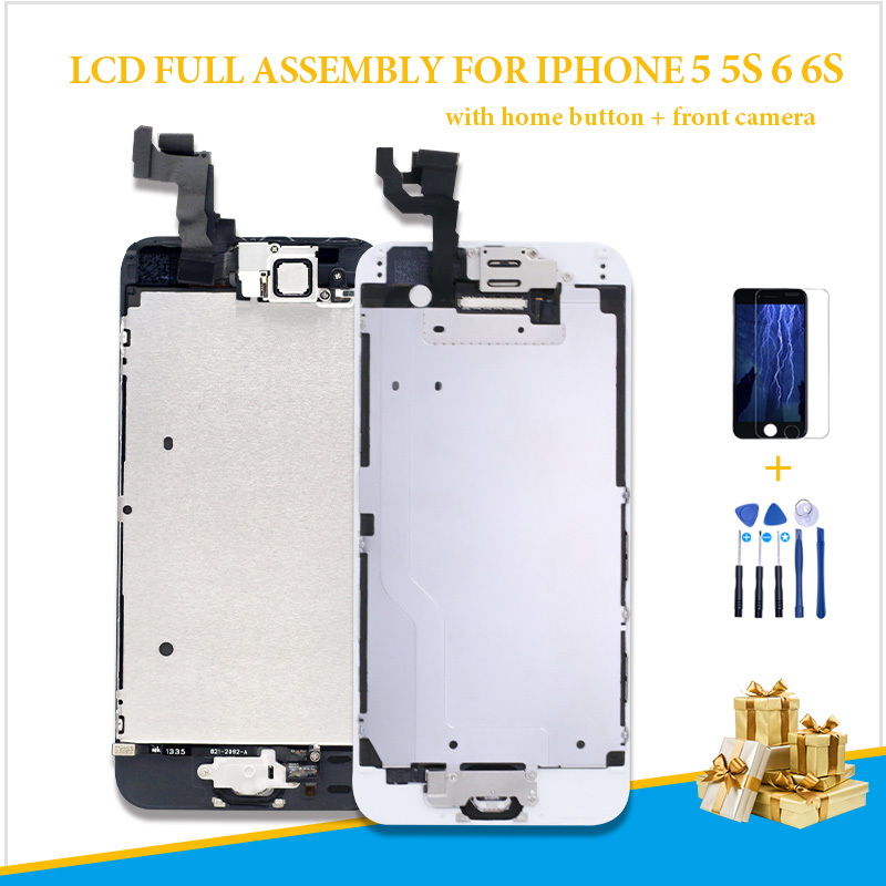 complete Full Assembly <font><b>Screen</b></font> For <font><b>iPhone</b></font> <font><b>6</b></font> 6G A1549 <font><b>A1586</b></font> A1589 LCD Replacement Display Touch Digitizer home button + camera image