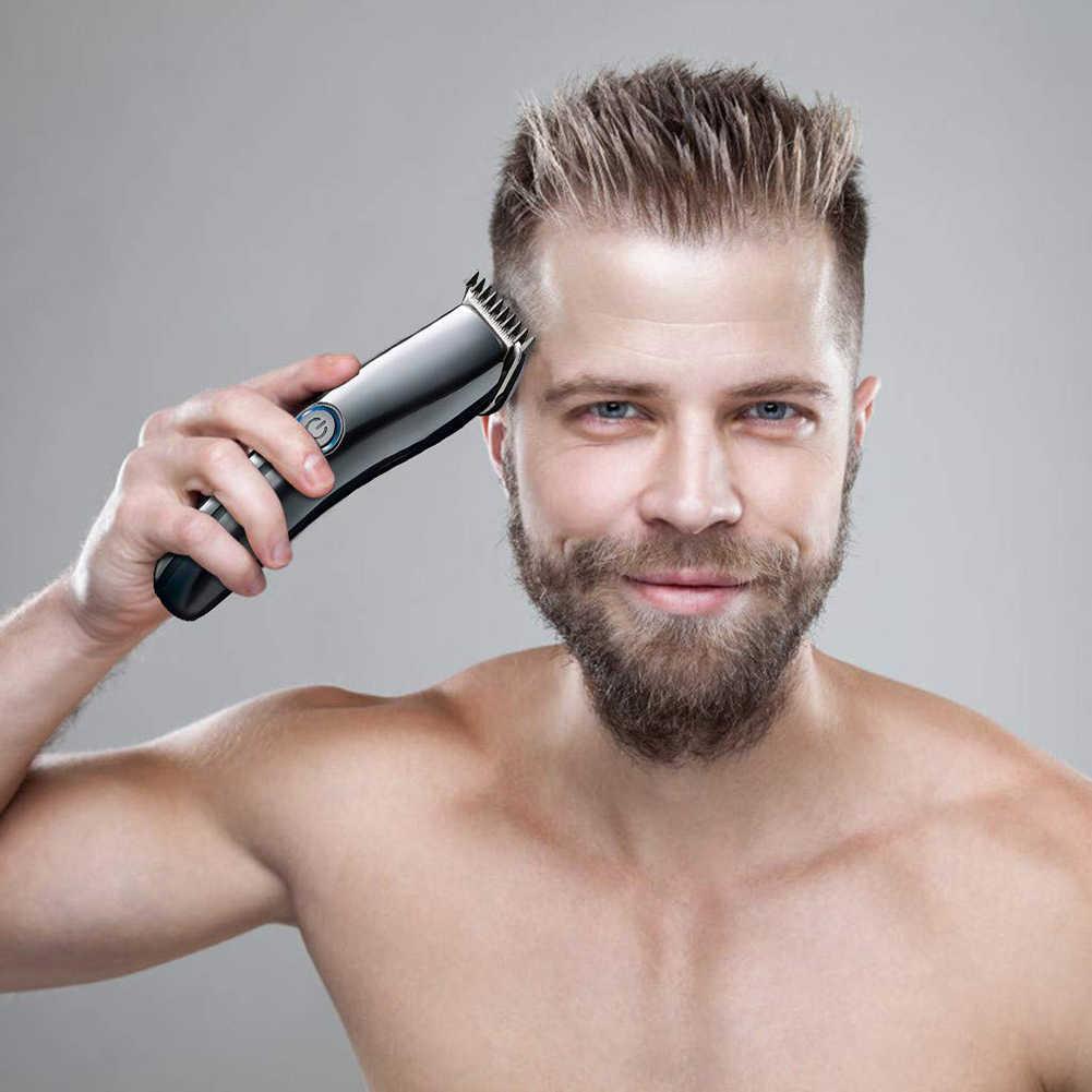 Новый дизайн электрическая машинка для стрижки волос мини машинка для стрижки волос борода Парикмахерская Бритва для мужчин стильные инструменты с 4 направляющими расчески