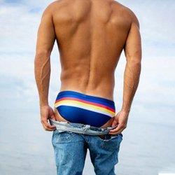 Мужские плавки-трусы Мужская купальная одежда, шорты в полоску треугольный купальный костюм мужские Слип плавки мужские плавки 6