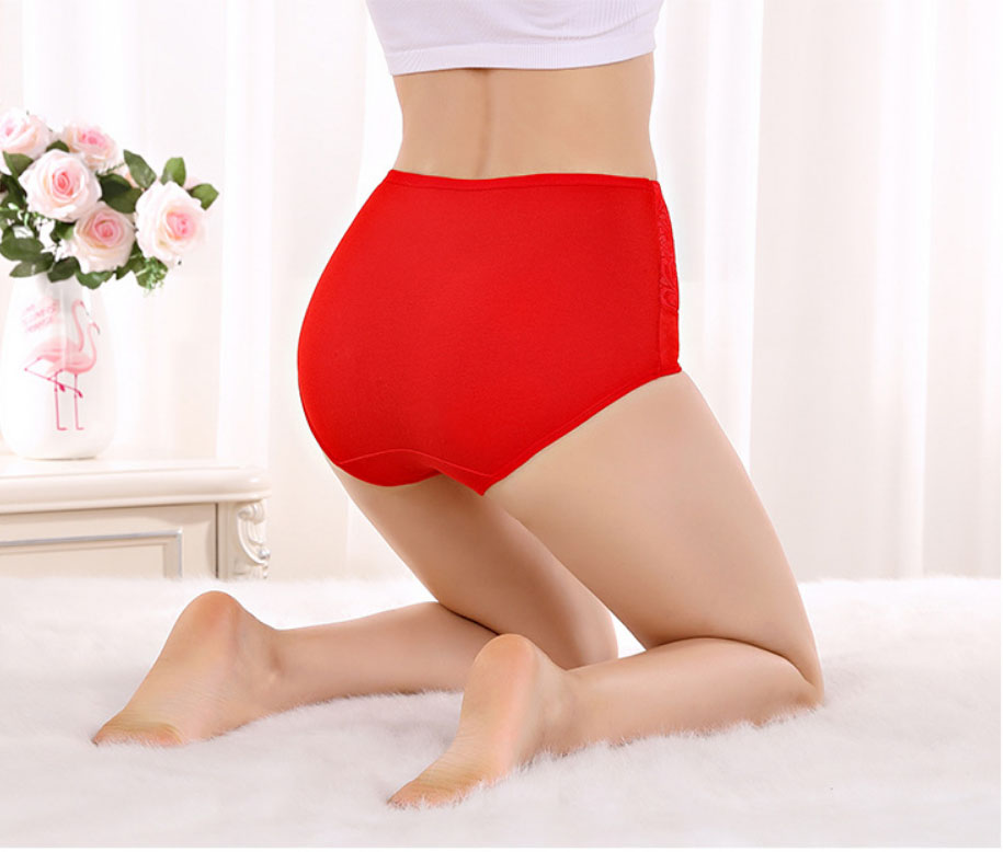 pure Cotton high waist Women's Panties  plus size Briefs Underwear Ladies Autumn Winter Panty Sexy Lingerie  Female Underpants