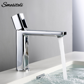 Smesiteli Silver Luxury Basin Mixer Sink Gold Brass Single Lever Faucet For Bathroom Contemporary White Hot Cold Washbasin Taps