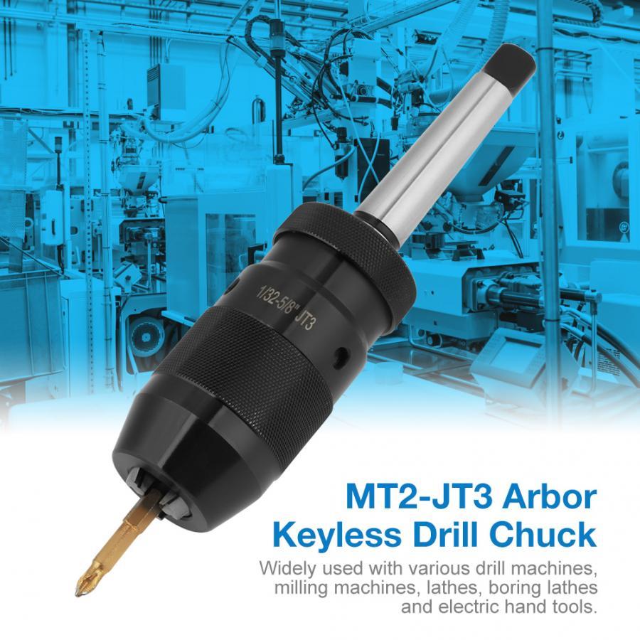 Steel Keyless Lathe Drill Chuck MT2 B16 Taper Arbor For Lathe Tool MK2 Type Hot