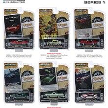 Luz verde 1: 64 coches de anuncios Vintage serie 1 juego de 6 piezas de aleación boutique de coches juguetes para niños juguetes de niños modelo de caja original
