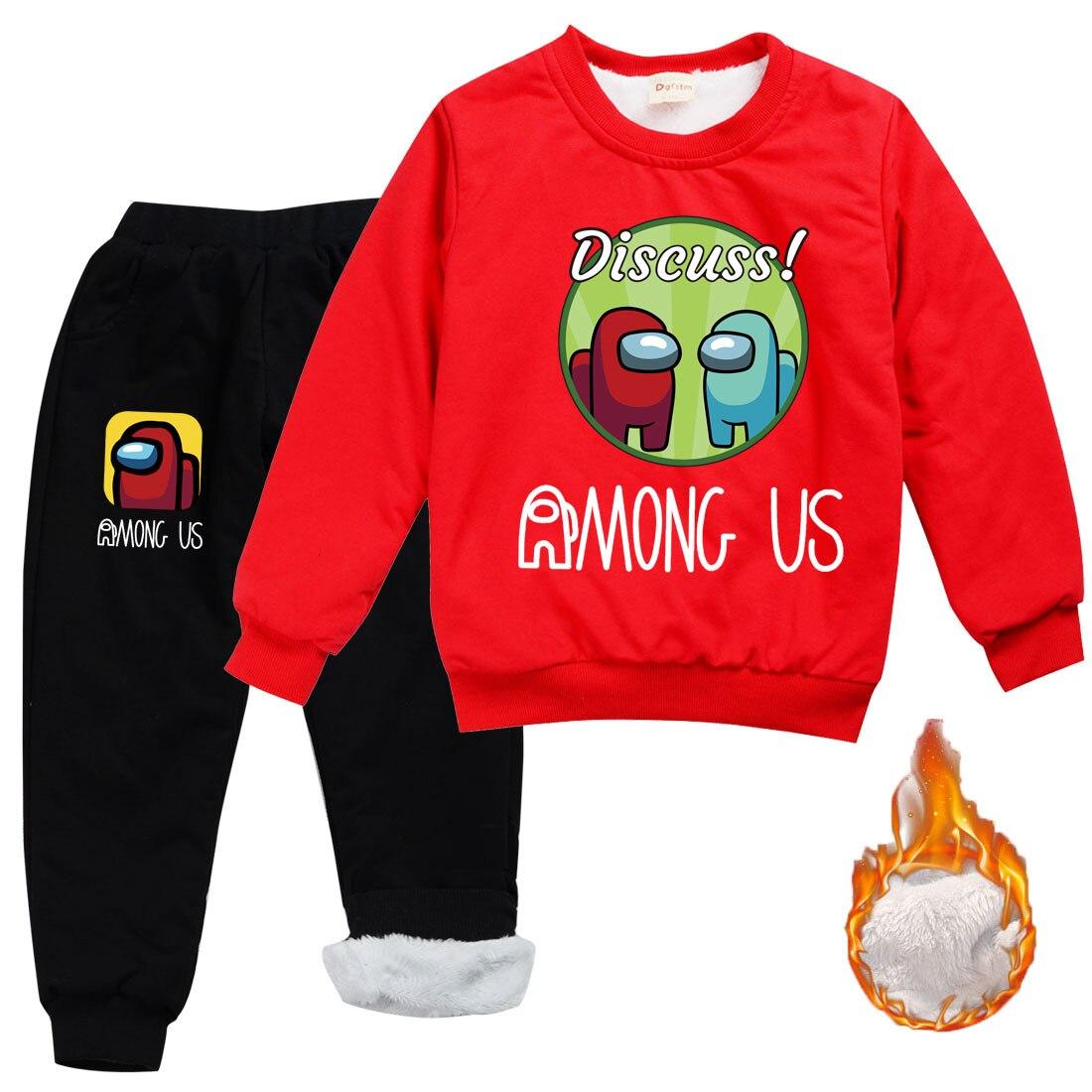 Новинка, Лидер продаж, детский комплект одежды для игры среди нас, зима 2020, свитшот для мальчиков + штаны для бега с морковкой, пуловер для мал...