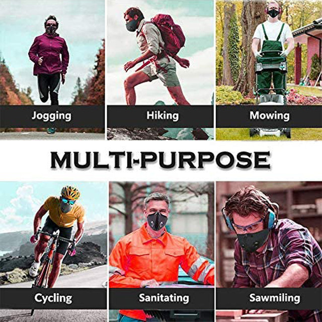 Bike Face Cover With 3pcs Filter Unisex Dustproof Cycling Outdoors Sports Mouth Cover Sweat Headband mascarilla con valvula mask 5