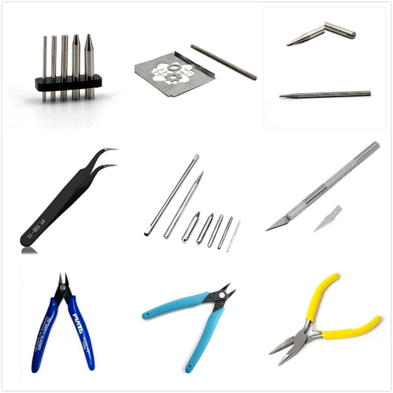 Tool For 3D Metal Puzzles Assembly Tools Nipper Scissors Long Nose Pliers Tweezers Pencil Sharpener Buckle Bend Device Star Wars