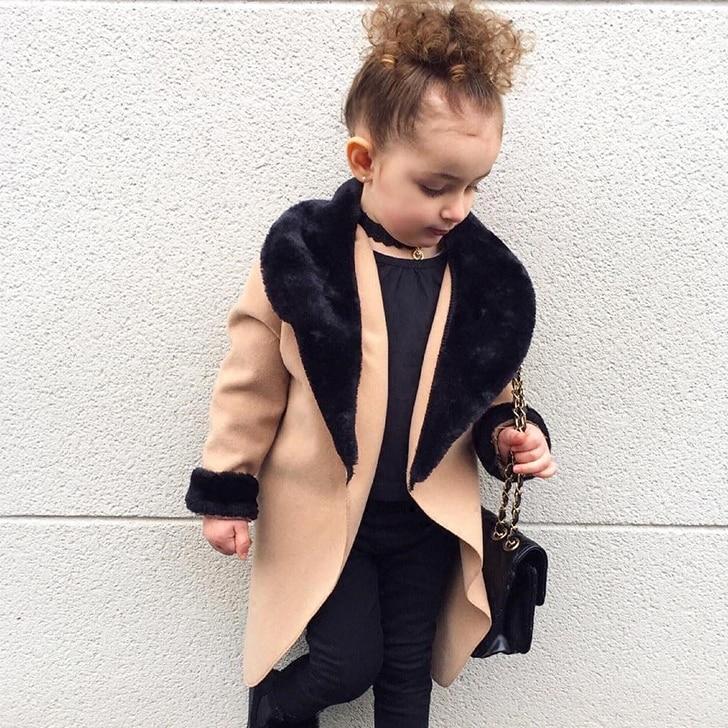 Kids Coat 2021 Autumn Baby Girls Long Sleeve Leopard Fur Windproof Infant Boys Clothes Girl Warm Pocket Fashion Outwear Jacket 4