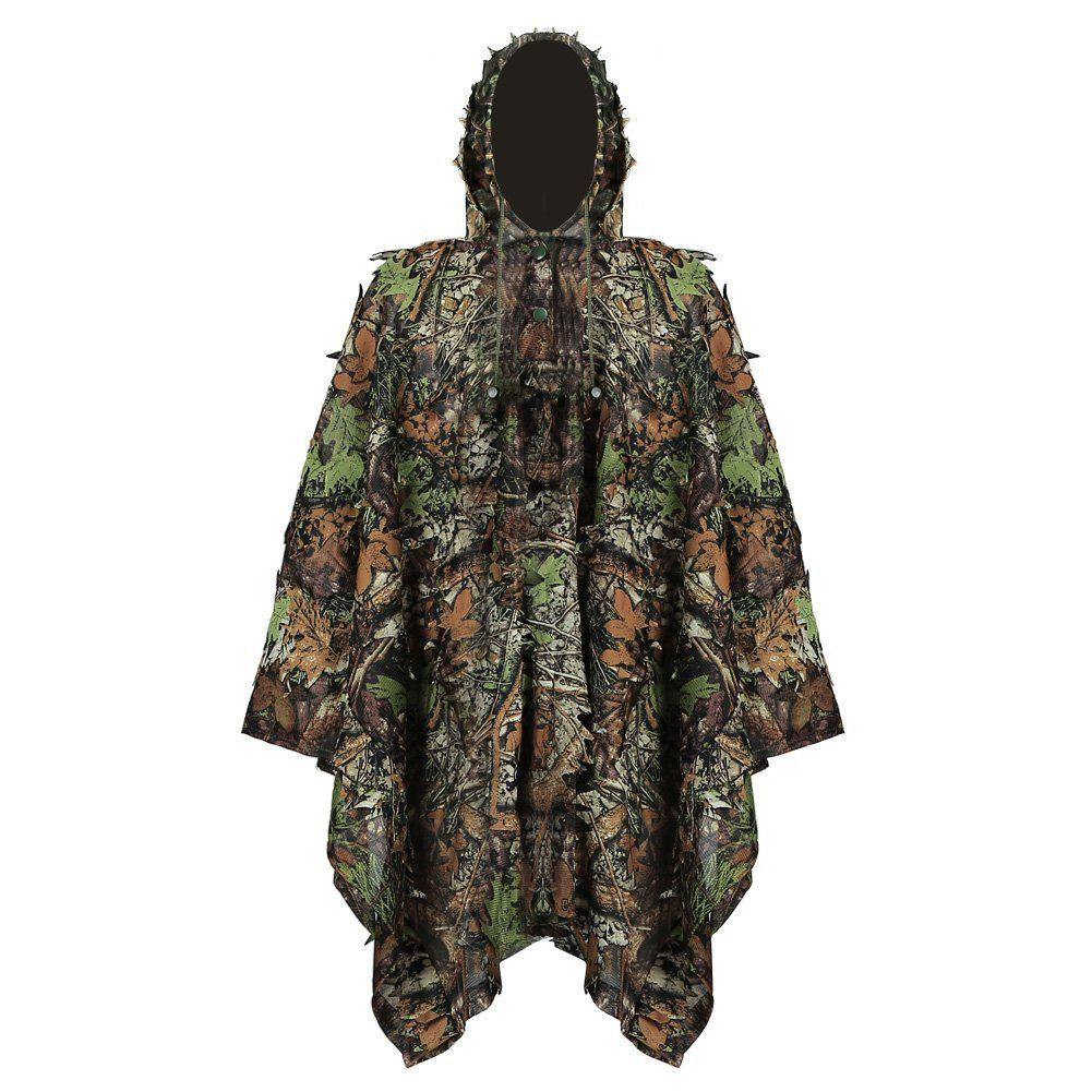 Листья пончо джунгли Ghillie костюмы Охота камуфляжная одежда 3D бионический лист Yowie сетка для охоты добавить Uttons более удобное|Маскировочный костюм для охоты|   | АлиЭкспресс